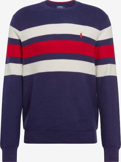 POLO RALPH LAUREN Sweter 'LS STRIPE' w kolorze niebieski / czerwonym, Podgląd produktu