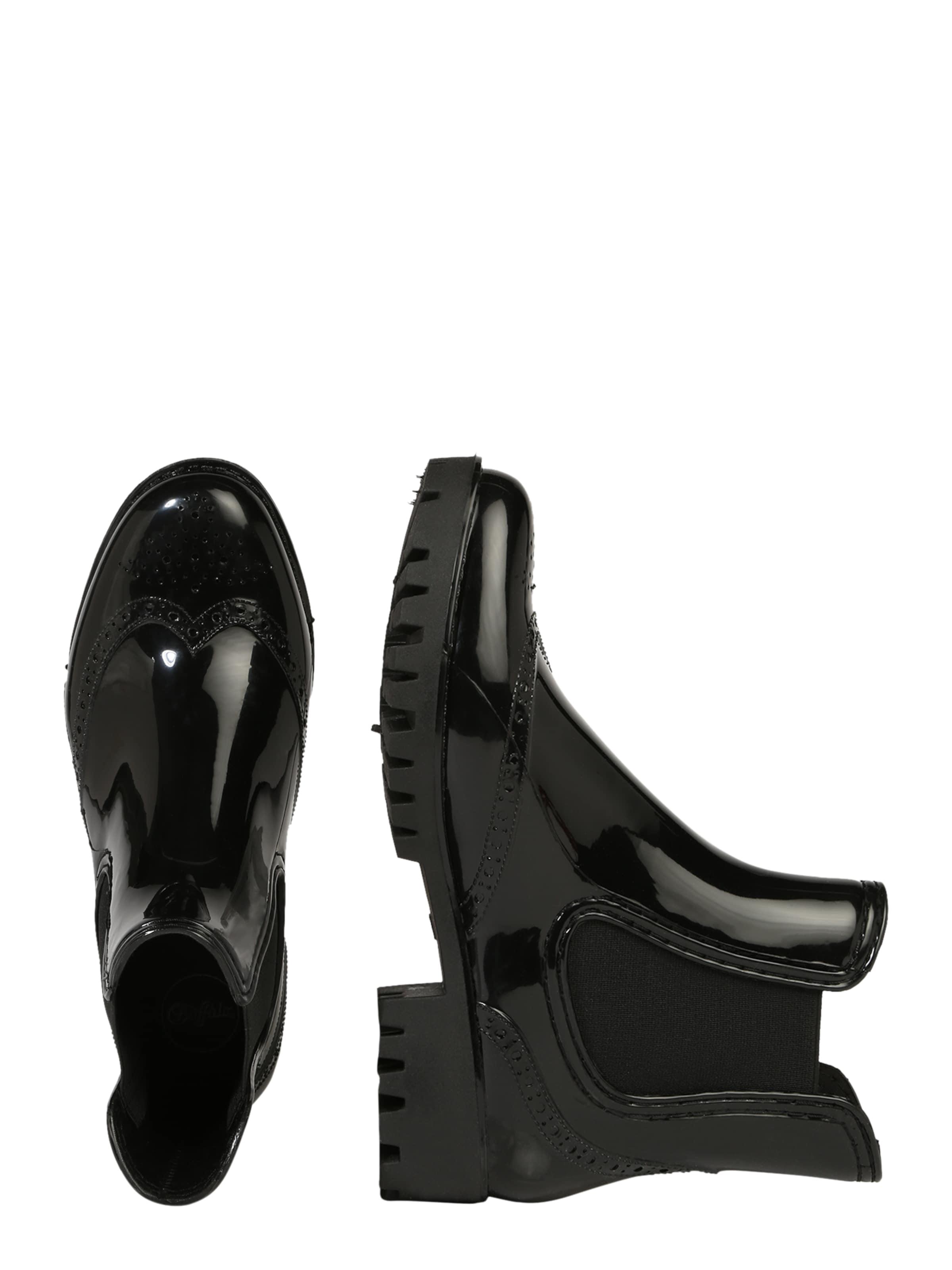 Noir Chelsea 'platform' Boots En Buffalo 08OkwnP