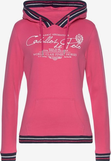 Tom Tailor Polo Team Sweatshirt in navy / pink / rot / weiß, Produktansicht