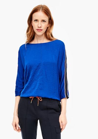 s.Oliver Blusenshirt in blau / schwarz, Modelansicht