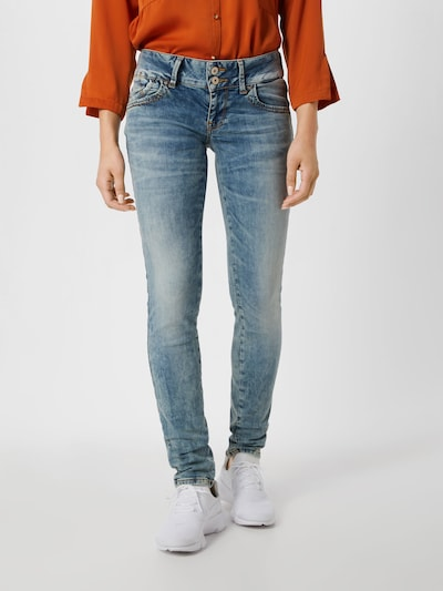 LTB Stretchige Skinny Jeans 'Molly' in blue denim, Modelansicht