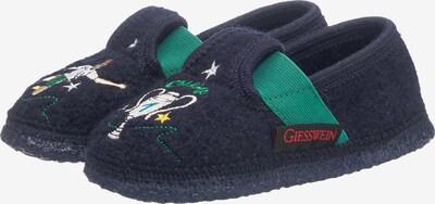 GIESSWEIN Huisschoenen 'Trittau' in de kleur Navy / Jade groen / Wit, Productweergave
