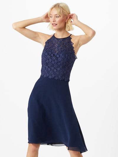 LUXUAR Koktejl obleka | nočno modra barva, Prikaz modela