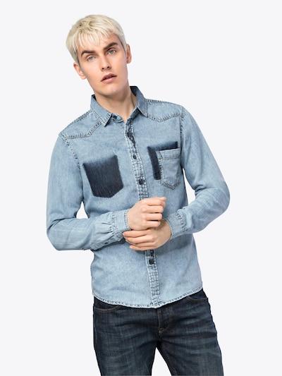 Urban Classics Hemd 'Denim Pocket Shirt' in blue denim: Frontalansicht
