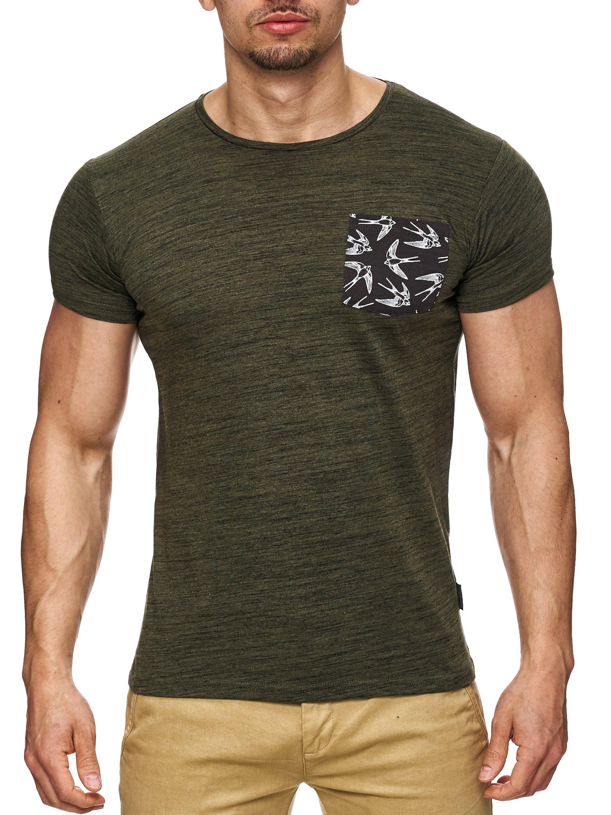 Jeans 'blaine' En shirt Indicode KakiNoir T Blanc fbg76y