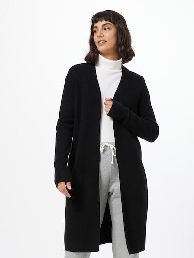 VILA Manteau en tricot 'RAMAS' en noir, Vue avec modèle