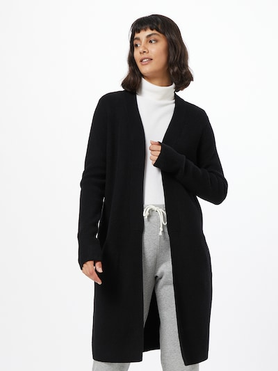 VILA Gebreide mantel 'RAMAS' in de kleur Zwart, Modelweergave