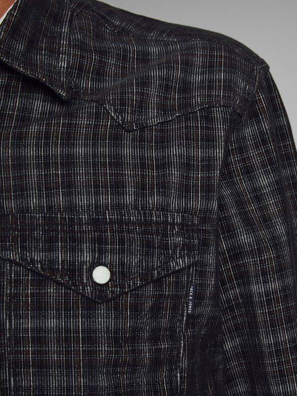 JACK & JONES Hemd in grau   anthrazit     basaltgrau  Große Preissenkung 51345e