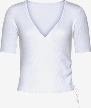 LASCANA Pullover in Weiß