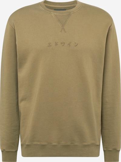 EDWIN Sweatshirt 'Katakana' in de kleur Olijfgroen, Productweergave