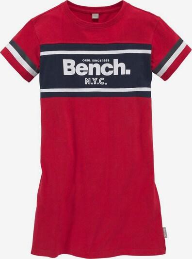 BENCH Kleid in enzian / rot / weiß, Produktansicht