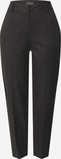 Pantaloni cu dungă 'RIA' SELECTED FEMME pe negru, Vizualizare produs