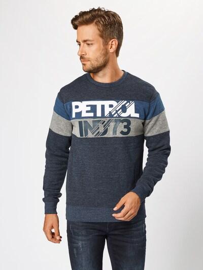 Petrol Industries Sweatshirt in de kleur Navy / Duifblauw / Grijs: Vooraanzicht