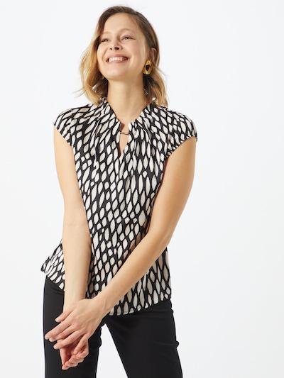 COMMA Blusenshirt in schwarz / weiß, Modelansicht