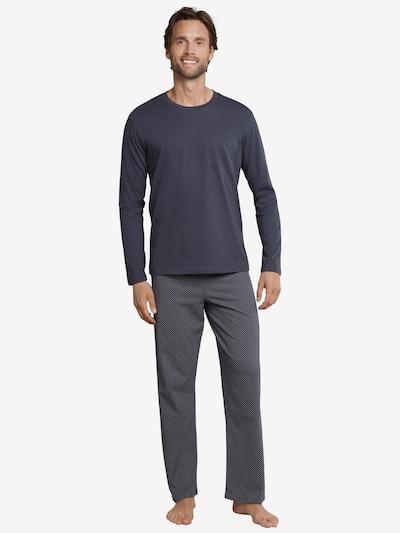 SCHIESSER Pyjama in grau / dunkelgrau, Modelansicht