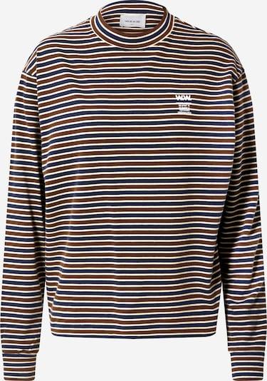 WOOD WOOD Shirt  'Astrid' in navy / braun / weiß, Produktansicht