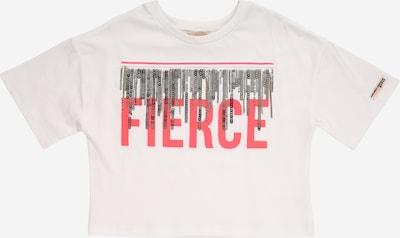 River Island T-Shirt 'FIERCE' en blanc: Vue de face