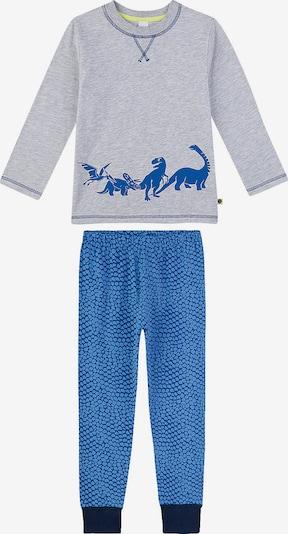 SANETTA Schlafanzug in marine / himmelblau / graumeliert, Produktansicht
