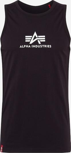 ALPHA INDUSTRIES T-Shirt en noir / blanc, Vue avec produit