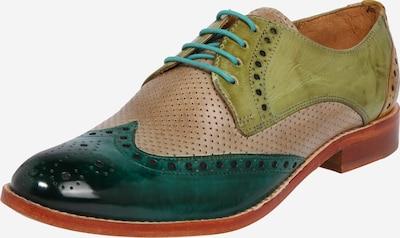 Pantofi cu șireturi 'Amelie' MELVIN & HAMILTON pe coniac / verde, Vizualizare produs