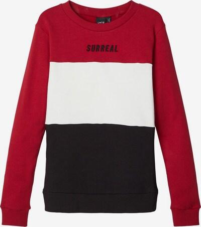 NAME IT Sweatshirt in rot / schwarz / weiß, Produktansicht