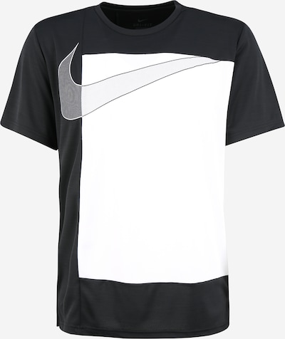 NIKE Functioneel shirt 'Superset' in de kleur Zwart / Wit, Productweergave