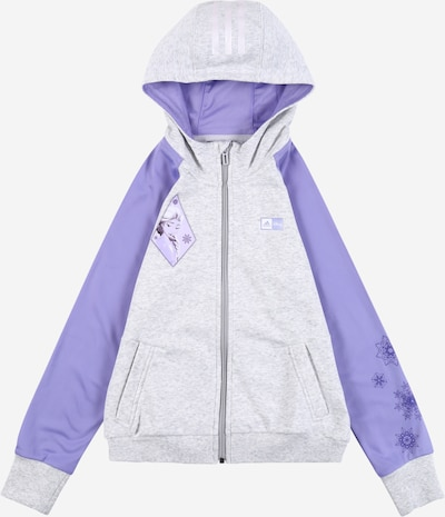 ADIDAS PERFORMANCE Kapuzenjacke 'Frozen' in graumeliert / lila, Produktansicht