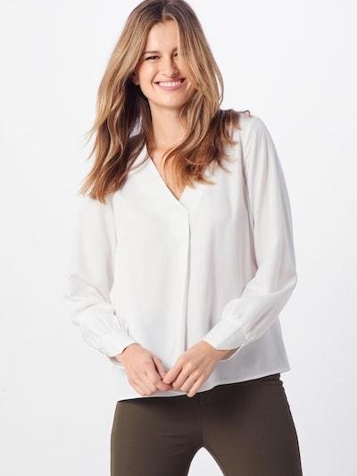 OBJECT Bluza 'OBJEILEEN L/S V-NECK TOP NOOS'   bela barva: Frontalni pogled