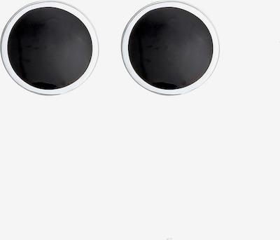 PAULO FANELLO Manchetknopen in de kleur Zwart / Zilver, Productweergave