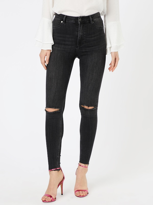 CHEAP MONDAY Acid Washed Jeans mit Zippern 'High-Spray'