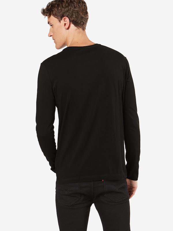LACOSTE Langarmshirt mit Label-Patch