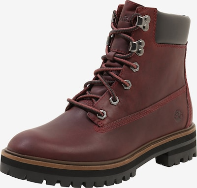 TIMBERLAND Boots 'London Square' in bordeaux / schwarz: Frontalansicht