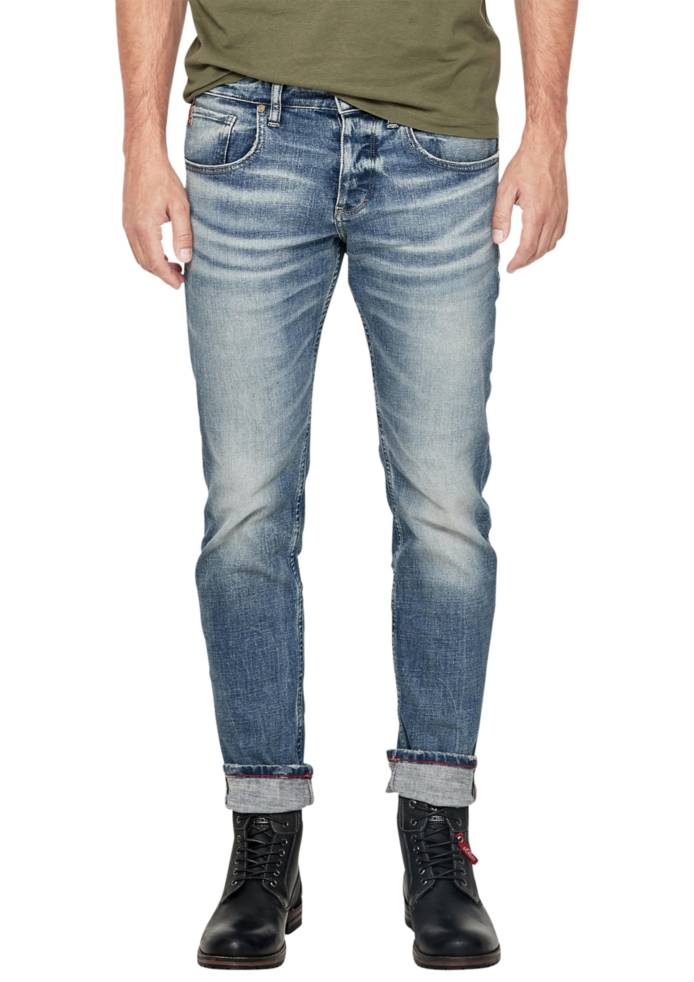 Red In S oliver Jeans Label Blau NknPw80XO