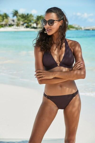 s.Oliver Bikini-Hose 'Rome' in braun, Modelansicht