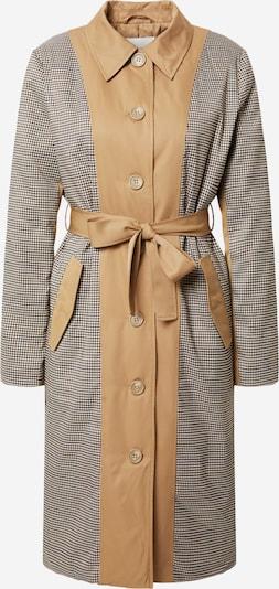 ICHI Mantel 'Felicia' in beige / schwarz / weiß, Produktansicht