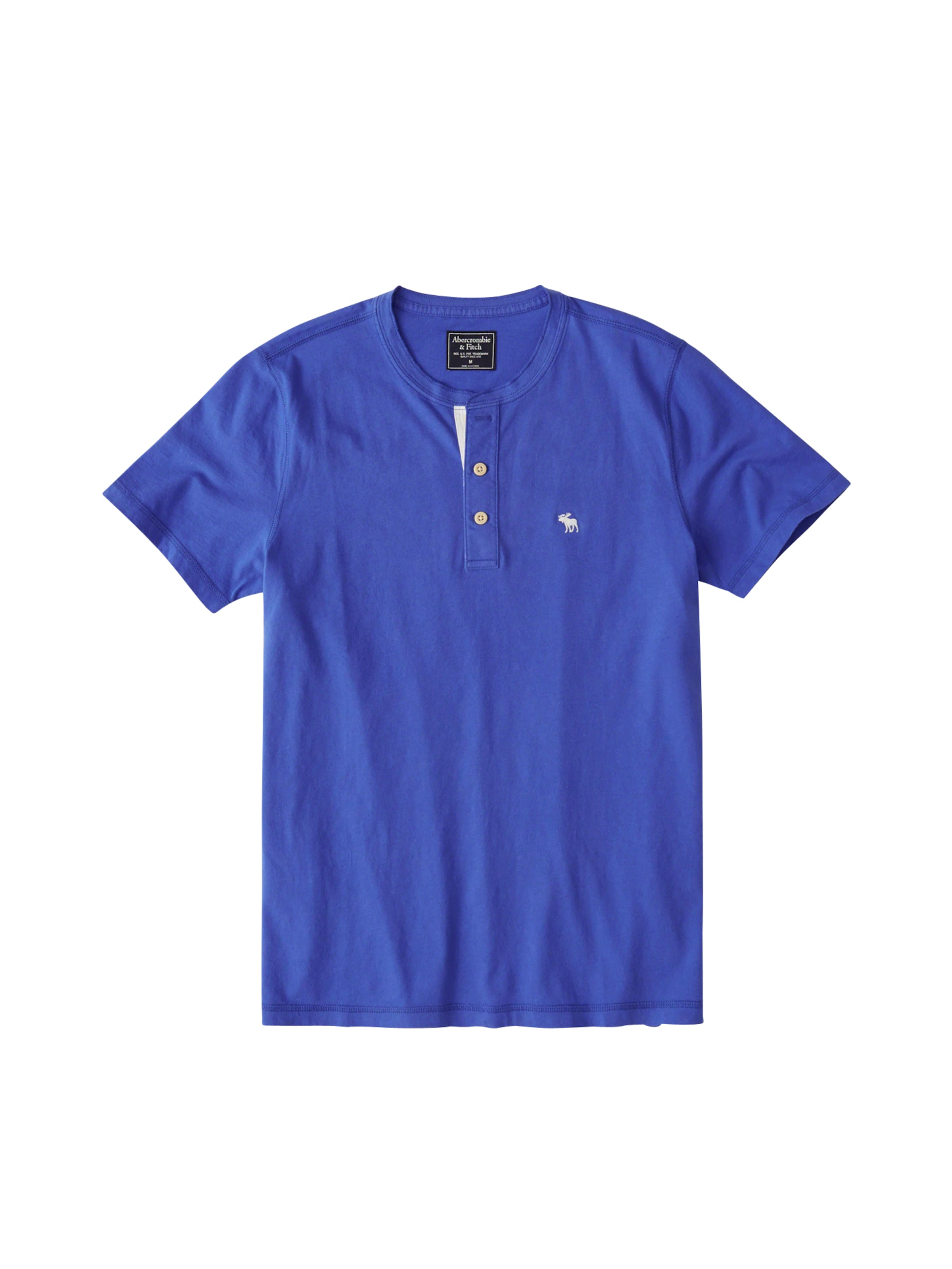 Henley' Shirt 'ss Blau Abercrombieamp; Fitch In OuPXkZi