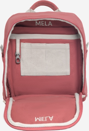 MELAWEAR Rucksack 'MELA II Mini ' in beige / rosa / rot: Seitenansicht