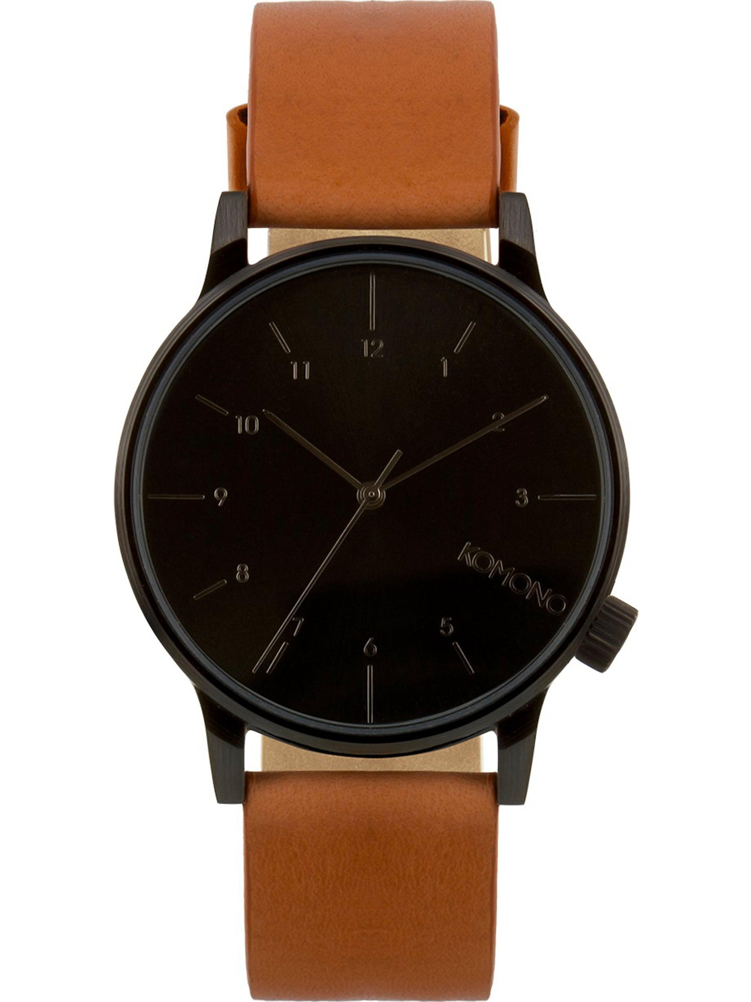 Regal' In CognacZwart Komono Horloge Analoog 'winston H29EID