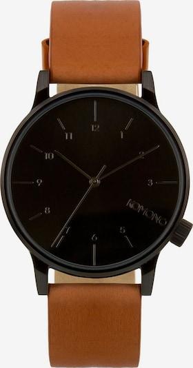 Komono Uhr 'Winston Regal' in cognac / schwarz, Produktansicht