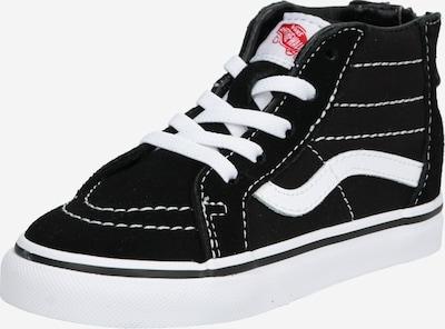 VANS Tenisice 'TD SK8-Hi Zip Black/White' u crna / bijela: Prednji pogled