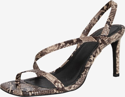Sandalai 'Mele' iš EDITED , spalva - ruda / juoda, Prekių apžvalga