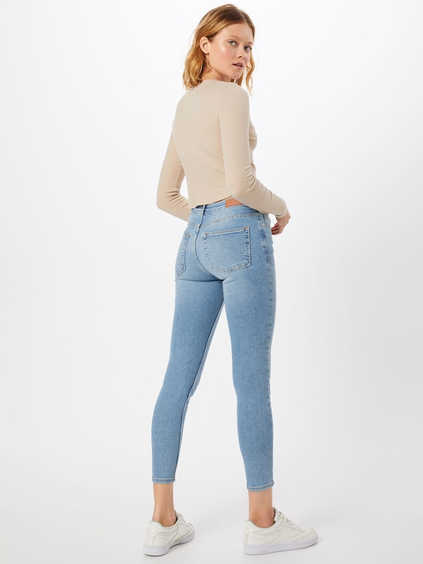 D Review Jeans Denim 'skinny jeans' Blauw Mid Blue In DWHIeEb29Y