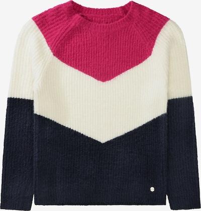 STACCATO Pullover in navy / dunkelpink / weiß, Produktansicht