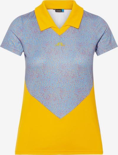 J.Lindeberg Functioneel shirt 'Birgit' in de kleur Blauw / Geel, Productweergave