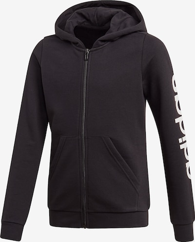 ADIDAS PERFORMANCE Sportief sweatvest 'LIN' in de kleur Zwart / Wit, Productweergave