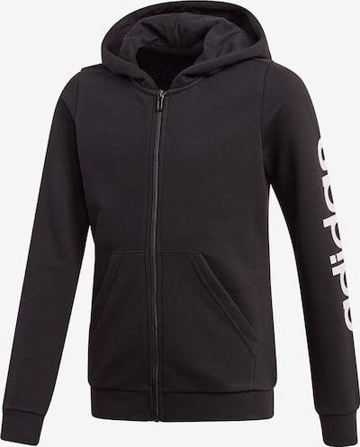 ADIDAS PERFORMANCE Kapuzenjacke 'YG E LIN FZ HD' in schwarz / weiß, Produktansicht