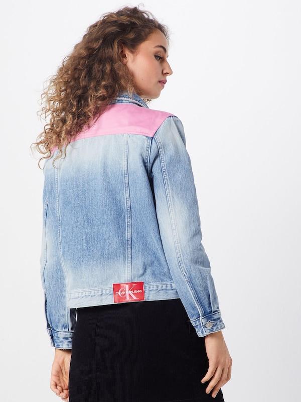 Foncé Trucker' En saison Klein Veste Rouge DenimRose Jeans Mi Bleu Calvin 'foundation YWH2IED9