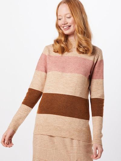 Soyaconcept Pullover 'NESSIE' in sand / braun / pink, Modelansicht