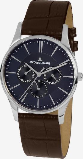 Jacques Lemans Uhr in dunkelblau / braun, Produktansicht