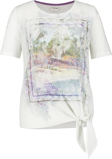 TAIFUN T-Shirt mit Knoten am Saum in mischfarben / weiß, Produktansicht